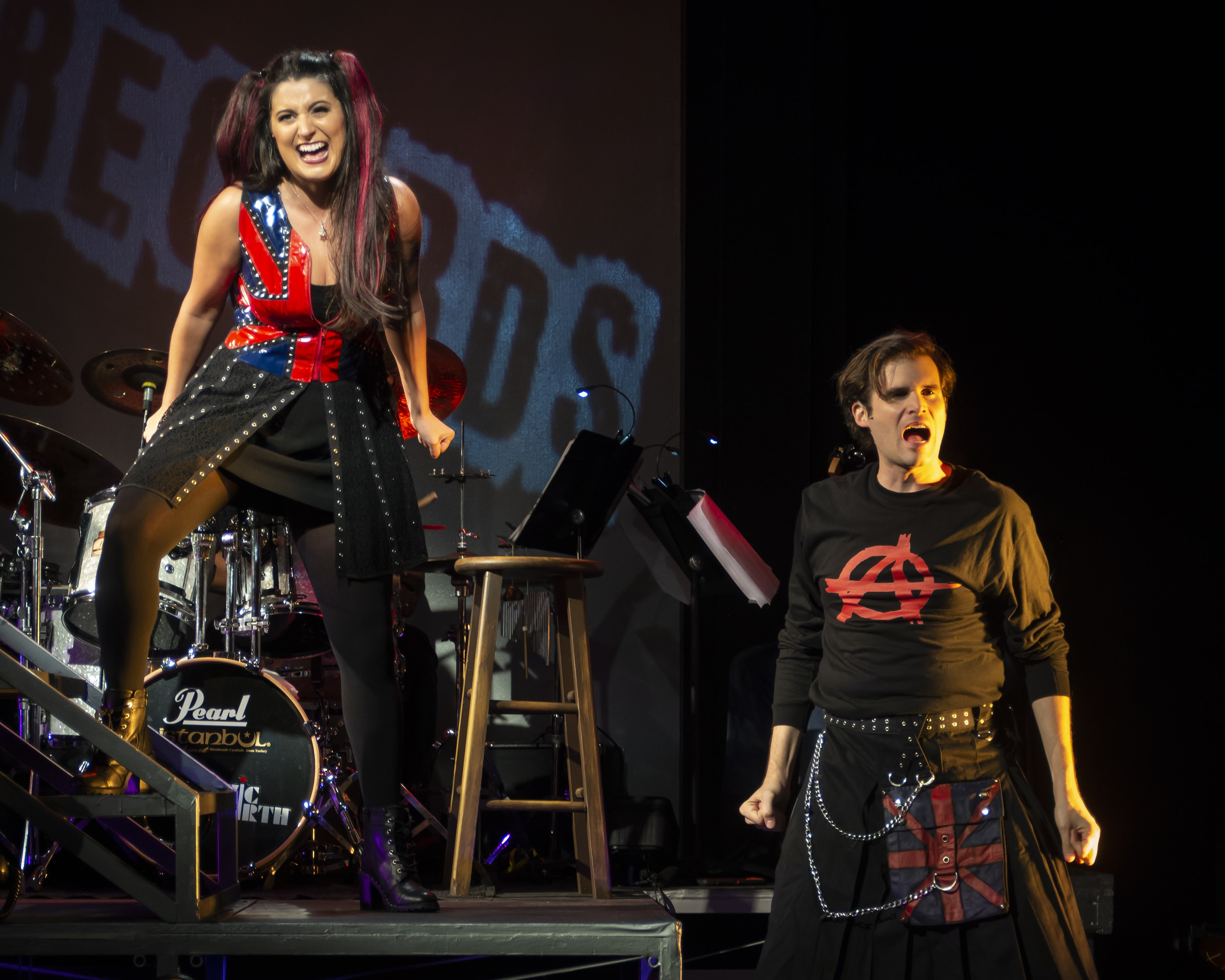 Candice Shedd-Thompson and Matthew Schleigh in Rooms: A Rock Romance, now playing at MetroStage. Photo by Chris Banks.