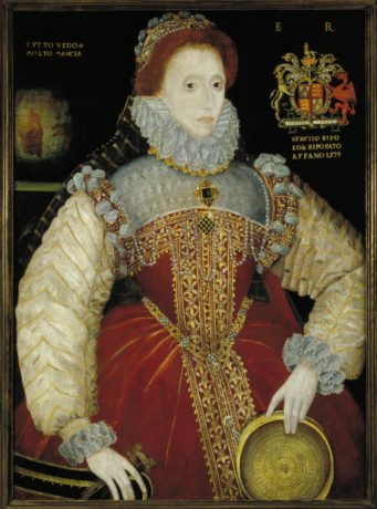 Dated 1579, this portrait of Queen Elizabeth I by George Gower (ca. 1540–1596) is the oldest painting in the Folger collection. Photo courtesy of the Folger Shakespeare Library.