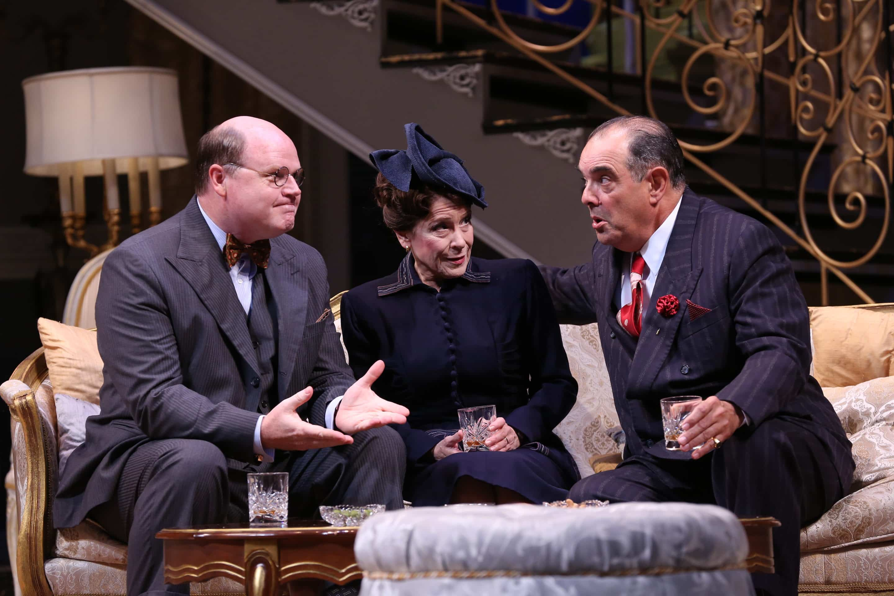 Todd Scofield, Naomi Jacobson, and Edward Gero in Born Yesterday. Photo by Carol Rosegg.