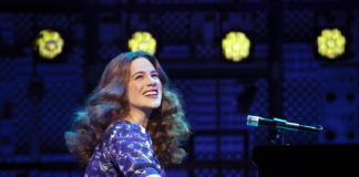 Sarah Bockel as Carole King. Photo by Joan Marcus