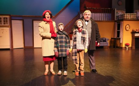 A Christmas Story: The Musical, presented by Charm City Players, plays through November 25. Photo by Alston Carlisle Photography.