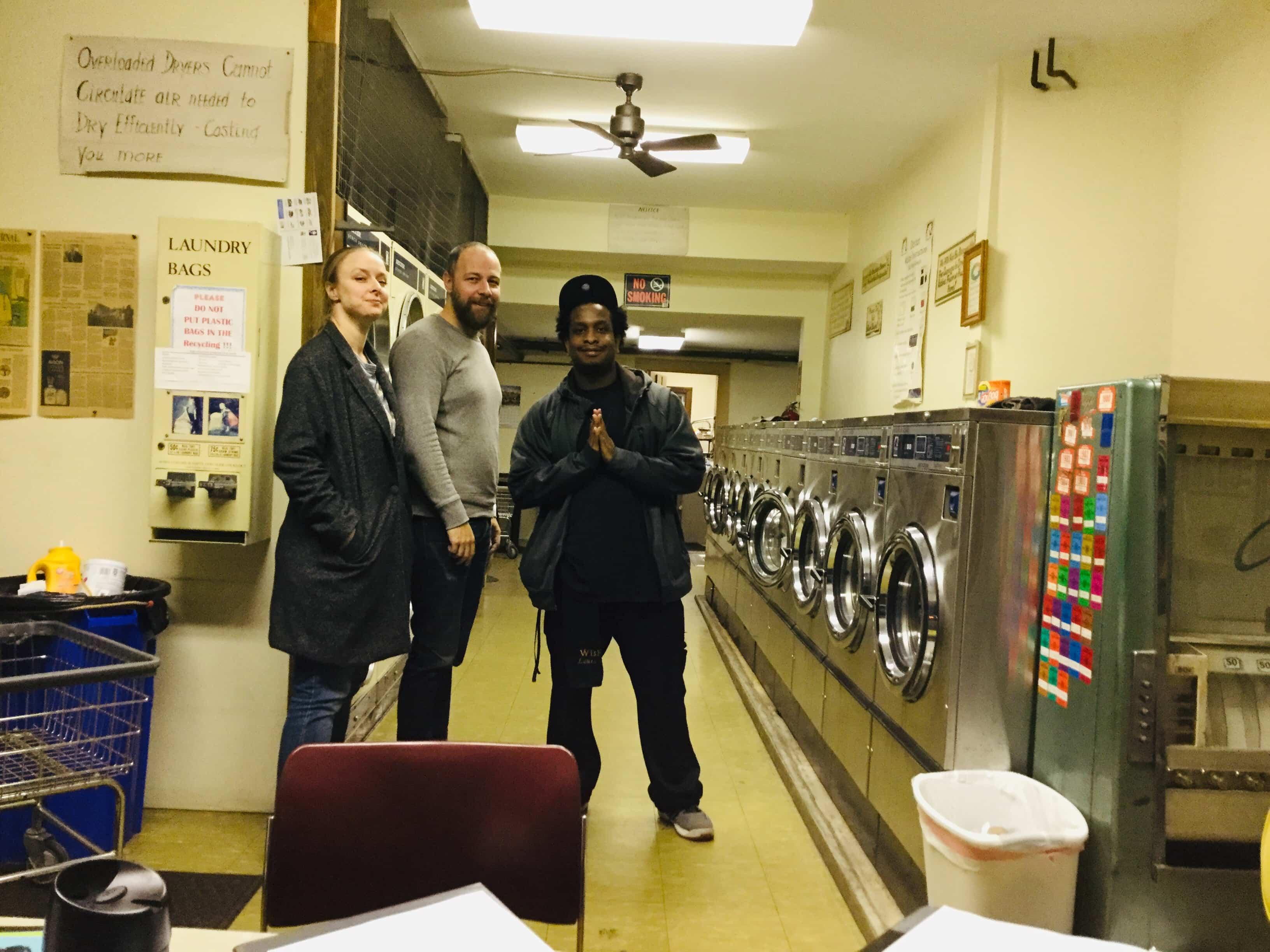 The cast of The Accident Bear: Rachel Manteuffel (Chance), Paul Diem (Bear) and Louis Davis (Buddy). Photo courtesy of Bob Bartlett.