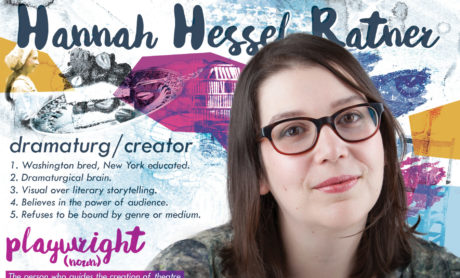 Hannah Hessel Ratner in a Welders promo ad. Photo courtesy of The Welders.