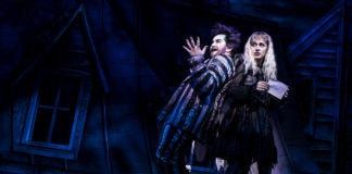 1227_Alex Brightman, Sophia Anne Caruso in BEETLEJUICE, Photo by Matthew Murphy, 2018