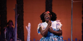 Awa Sal Secka as Cinderella at Imagination Stage. Photo by Margot Schulman.