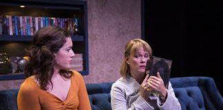Thais Menendez and Beth Hylton in Things That Are Round at Rep Stage. Photo by Katie Simmons-Barth.