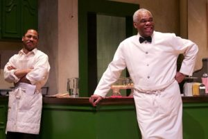 """Ro Boddie and Craig Wallace in Round House Theatre's production of """"MASTER HAROLD"""" … and the Boys. Photo by Kaley Etzkorn."""