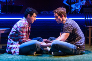 Jimmy Mavrikes (Will) and Lukas James Miller (Mike) in Girlfriend. Photo by Christopher Mueller.