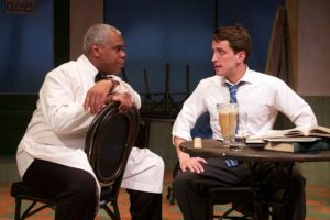 """Craig Wallace and Nick Fruit in Round House Theatre's production of """"Master Harold and the Boys."""" Photo by Kaley Etzkorn."""