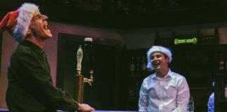 Matthew Keenan's An Irish Carol plays through December 31 at the Keegan Theatre. Photo by Mike Kozemchak.