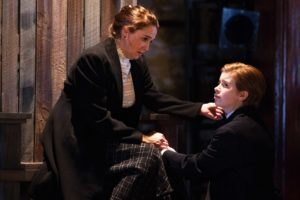 Constance (Holly Twyford) consoles her son Arthur (Megan Graves). Photo by Teresa Wood.
