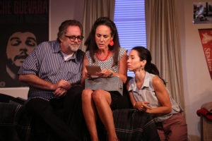 The siblings: Jonathan Goldstein (Michael), Susan Rome (Holly), and Robin Abramson (Sharon) in 'If I Forget.' Photo by Carol Rosegg