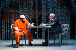 Ahmad Kamal (Malik) and MJ Casey (Bud Abramson) in 4,380 Nights. Photo by C Stanley Photography.
