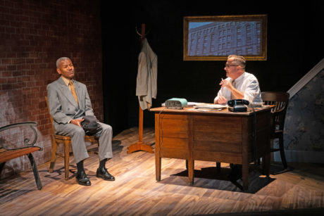 James Foster Jr. (Hoke Coleburn) and Matty Griffiths (Boolie) in Driving Miss Daisy, now playing at the Anacostia Playhouse. Photo by Jabari Jefferson.