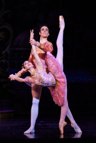 Principal Artists Beckanne Sisk and Chase O'Connell in Ballet West's The Nutcracker. Photo by Luke Isley.