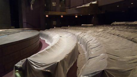 The Alden Theatre under renovation. Photo by David Siegel.