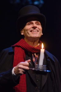 Paul Morella in Olney Theatre Center's production of A Christmas Carol: A Ghost Story of Christmas. Photo by Stan Barouh.