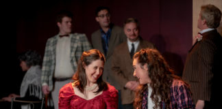 Charley's Aunt plays through December 23 at Fells Point Corner Theatre. Photo by Trent Haines-Hopper.