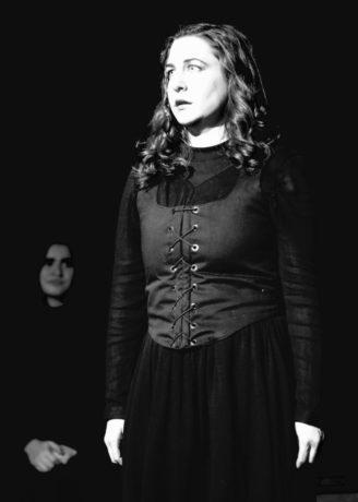 Marnie Kanarek as Abigail in Lumina Theatre Company's production of The Crucible. Photo by Gina Abel.