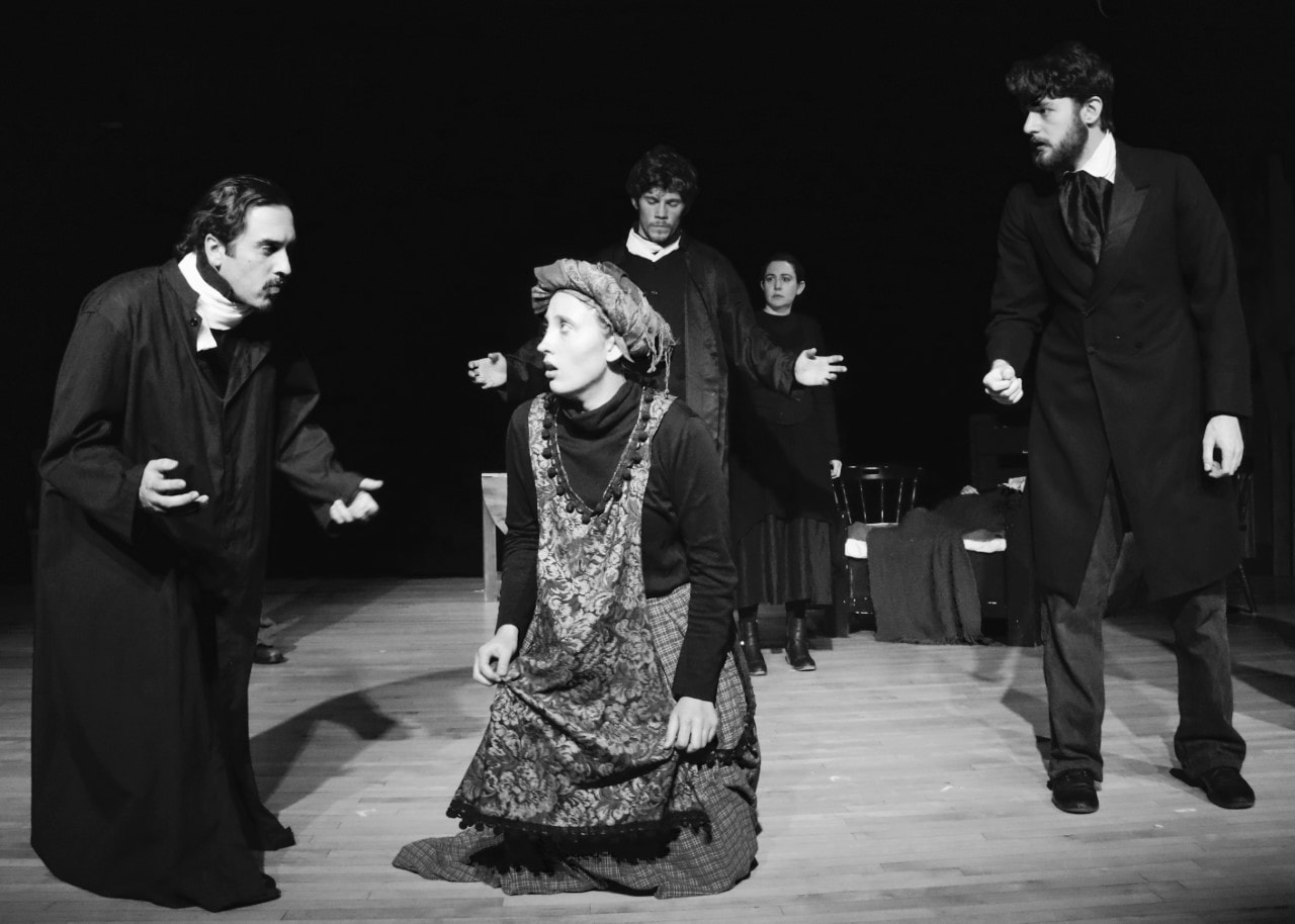 The cast of Lumina Theatre Company's production of The Crucible. Photo by Gina Abel.