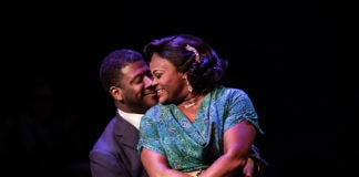 Kevin McAllister and Nova Y. Payton in Ain't Misbehavin' at Signature Theatre. Photo by Margot Schulman.