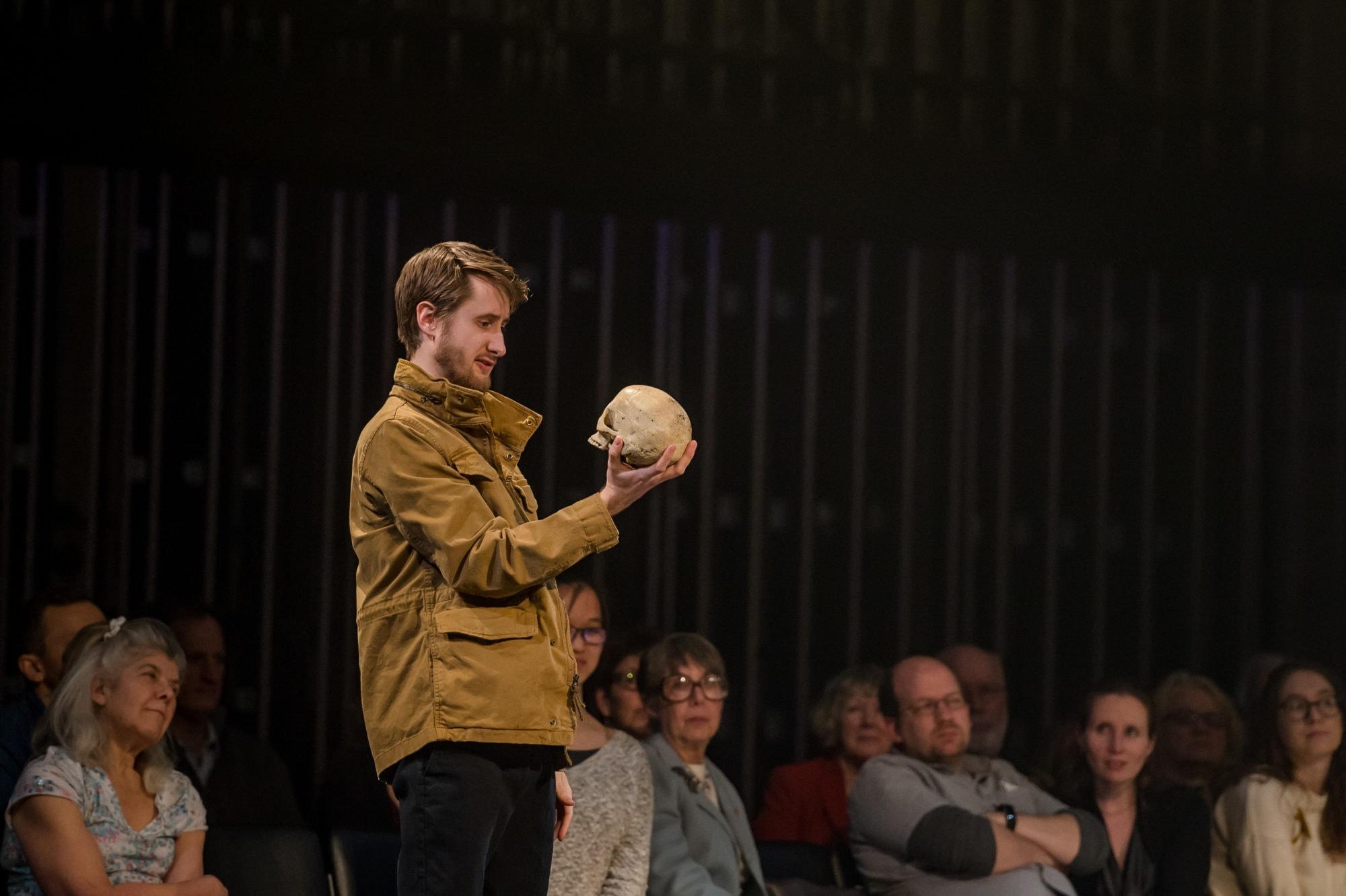 Aubie Merrylees as Hamlet. Photo by Randall Garnick Photography.