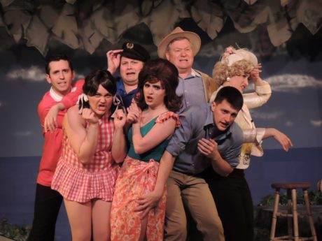 The cast of Way Off Broadway Dinner Theatre's production of Gilligan's Island: The Musical. Photo courtesy of Way Off Broadway Dinner Theatre.