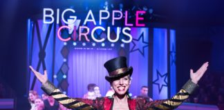 Ringmaster Stephanie Monseu in the Big Apple Circus. Photo by Juliana Crawford.