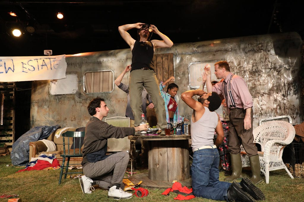The cast of Jerusalem, playing through February 3 at Fells Point Corner Theatre. Photo by Shealyn Jae Photography.