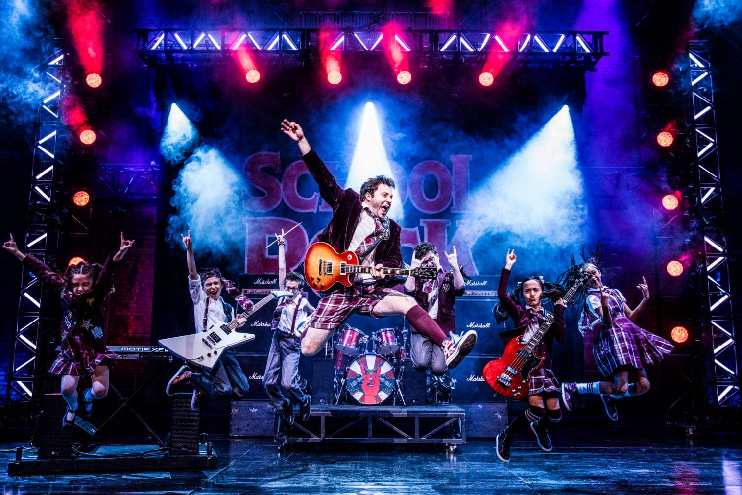 The national tour cast of 'School of Rock.' Photo by Evan Zimmerman.