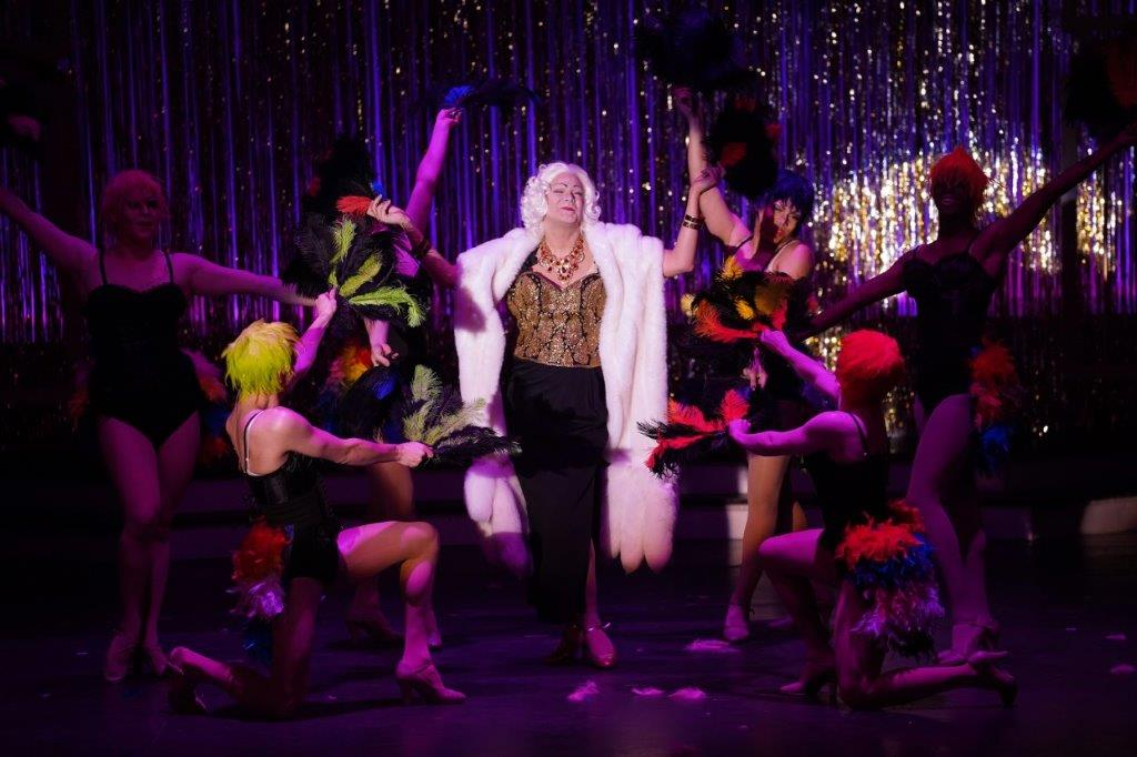 The cast of La Cage aux Folles, playing through March 3 at Riverside Center for the Performing Arts. Photo courtesy of Patrick A'Hearn/Riverside Center for the Performing Arts.