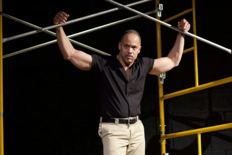 Keith Hamilton Cobb in American Moor, now playing at Anacostia Playhouse. Photo by Jabari Jefferson.