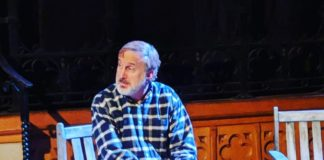 Stuart Fischer as Robert in St. Mark's Players' production of Proof. Photo courtesy of St. Mark's Players.