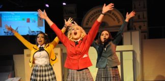 The cast of 'Heathers.' Photo courtesy of Dominion Stage.