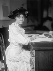 Alice Paul in 1915. Photo by Harris and Ewing.