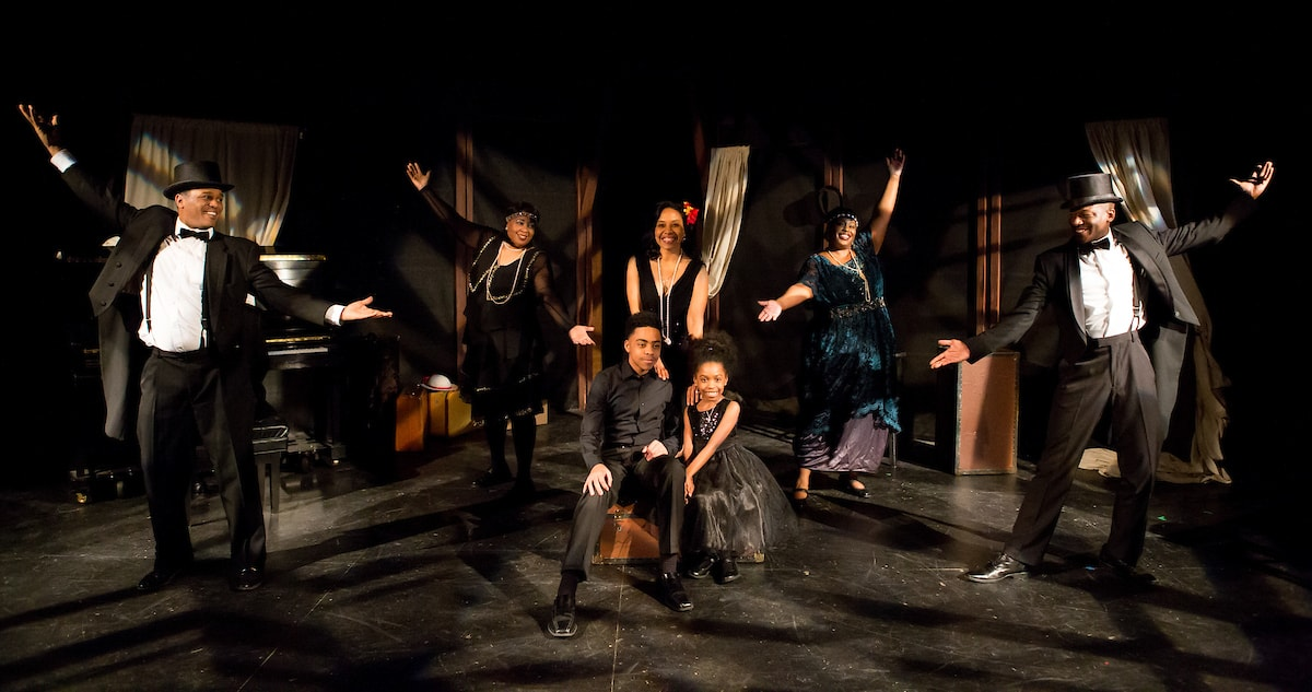 The Company of The In Series' production of From U Street to The Cotton Club. Photo by Angelisa Gillyard.
