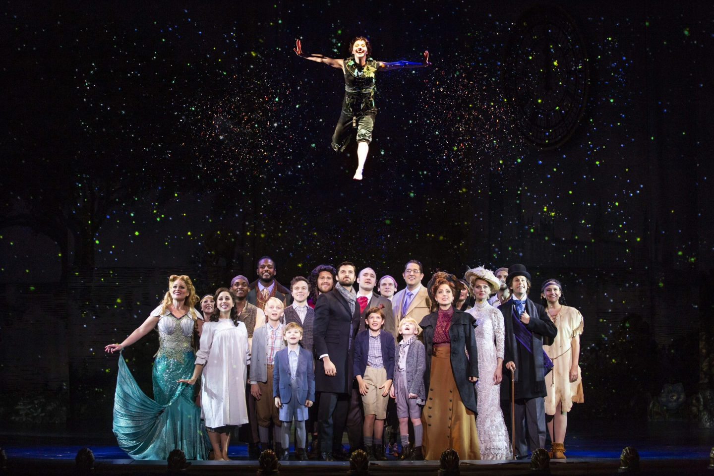 The company of 'Finding Neverland.' Photo by Jeremy Daniel.