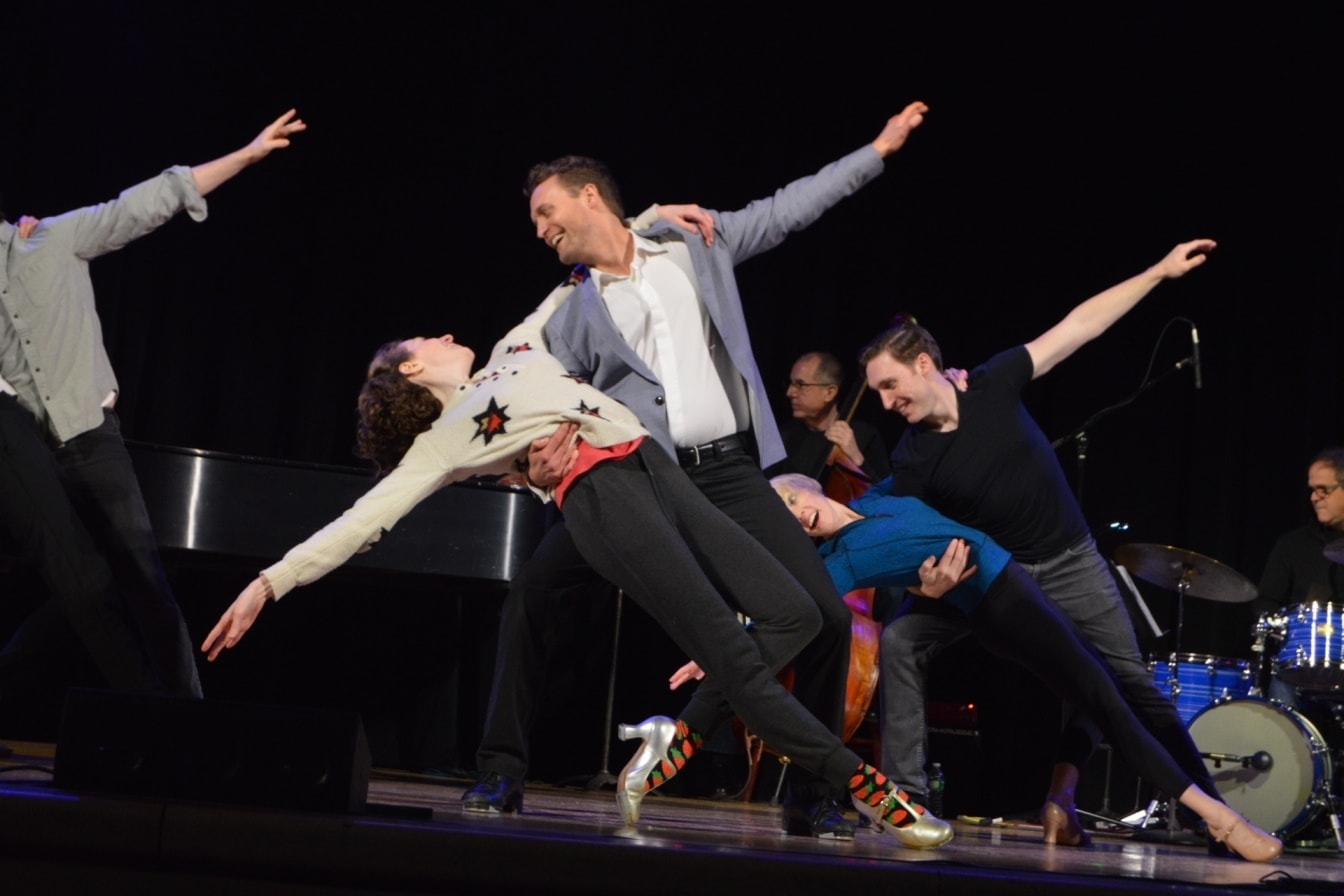 Danny Gardner and the Broadway by the Year Dance Troupe.