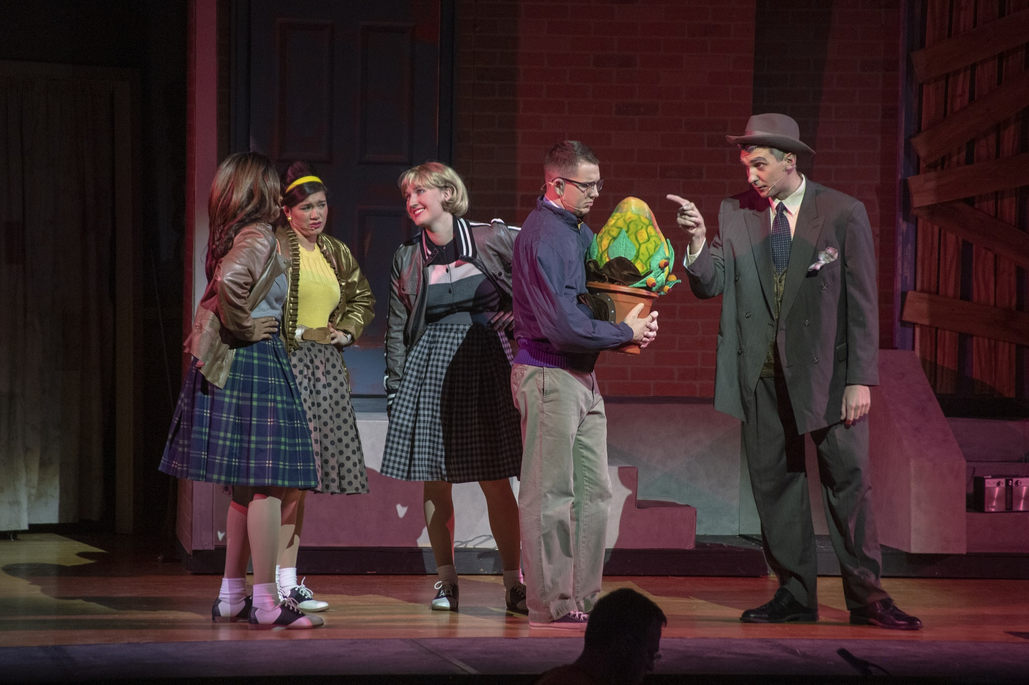 The cast of 'Little Shop of Horrors.' Photo courtesy of the US Naval Academy.