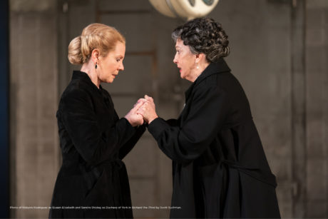 Robynn Rodriguez as Queen Elizabeth and Sandra Shipley as Duchess of York in Shakespeare Theatre Company's production of 'Richard the Third.' Photo by Scott Suchman.