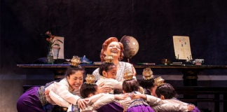 Angela Baumgardner and Children in The King and I. Photo by Matthew Murphy