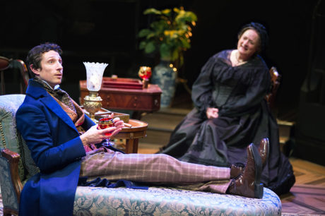 Jonathan David Martin as Morris Townsend and Nancy Robinette as Lavinia Penniman in 'The Heiress' at Arena Stage. Photo by C. Stanley Photography.
