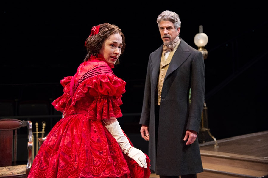 Laura C. Harris as Catherine Sloper and James Whalen as Dr. Austin Sloper in 'The Heiress' at Arena Stage. Photo by C. Stanley Photography.