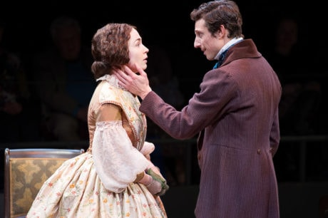 Laura C. Harris as Catherine Sloper and Jonathan David Martin as Morris Townsend in 'The Heiress' at Arena Stage. Photo by C. Stanley Photography.