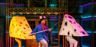 Jaysen Wright as Anatole in 'Anatole: Mouse Magnifique' at Imagination Stage. Photo by Margot Schulman.