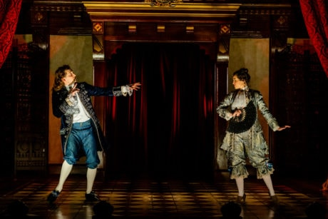 language of the fan in Folger Theatre's 'Nell Gwynn.' Photo by Brittany