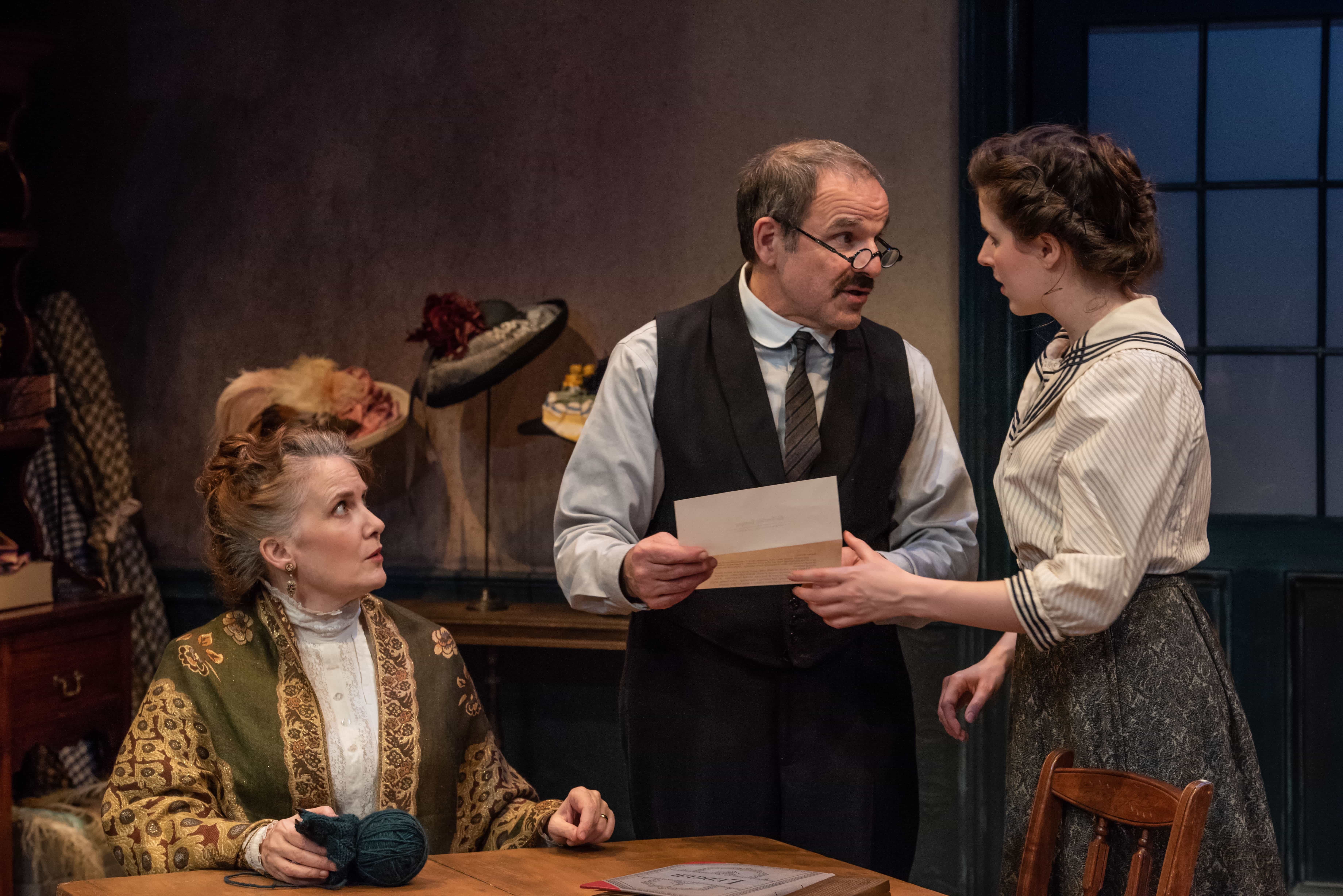 Tracy Sallows, Donald Corren, and Emma Geer. Photo by Todd Cerveris.