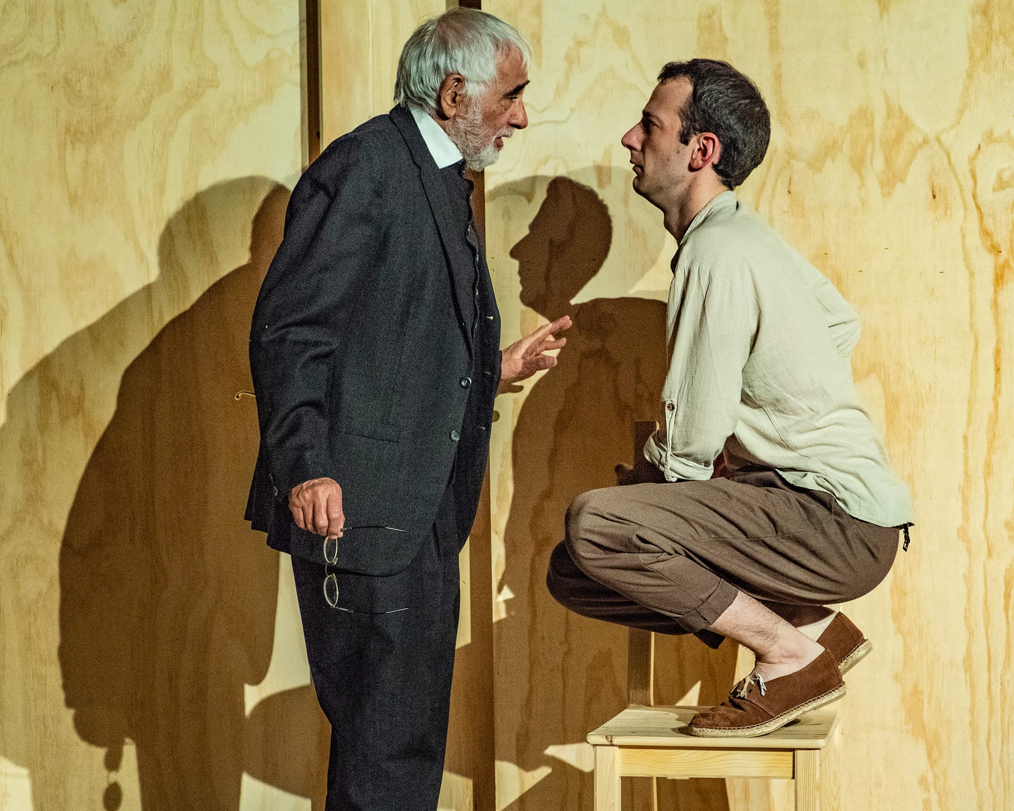 Horacio Peña and Víctor de la Fuente in 'The Old Man, the Youth, and the Sea.' Photo by Stan Weinstein.