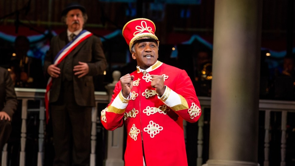 Norm Lewis in The Music Man at The Kennedy Center. Photo by Jeremy Daniel.