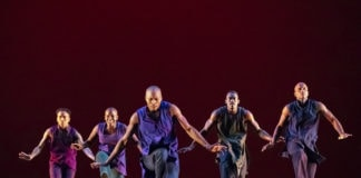 Alvin Ailey American Dance Theater performs Rennie Harris' Lazarus. Photo by Paul Kolnik.